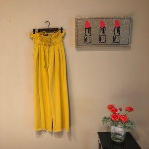 Pants - High Waist Wide Leg Palazzo Pants